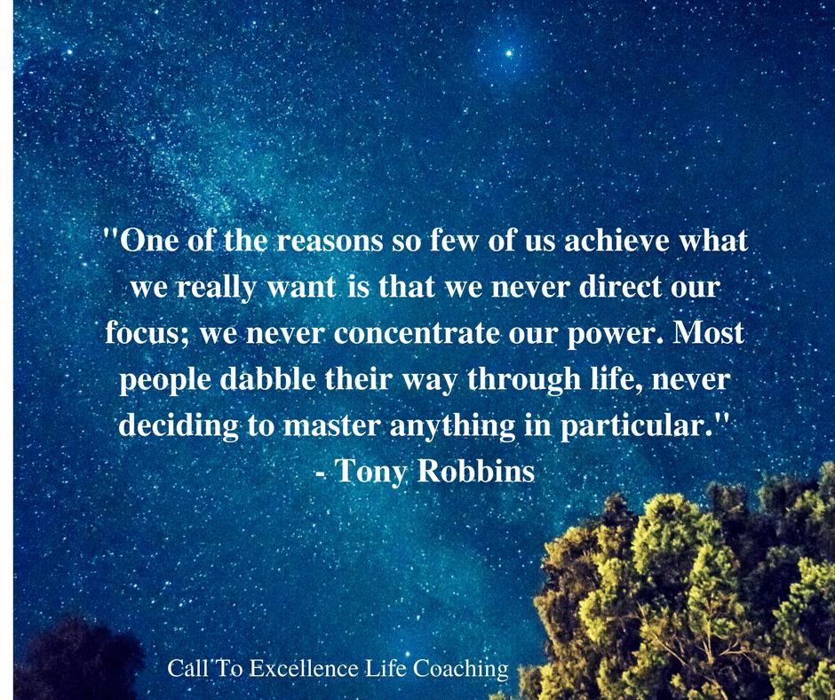 Tony Robbins Quote - Focus