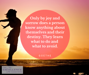 """Only by joy and sorrow does a person know anything about themselves and their destiny. They learn what to do and what to avoid."" - Johann Wolfgang von Goethe"